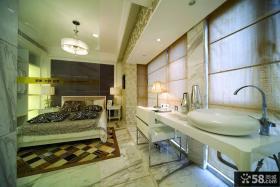 带卫生间主卧室装修效果图大全2013图片
