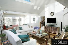 复式楼客厅装修效果图大全2013图片欣赏