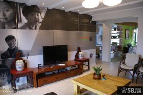 家装客厅电视背景墙装修设计图
