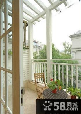 休闲半露天阳台设计案例