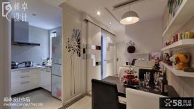 小户型厨房隔断餐厅装修效果图
