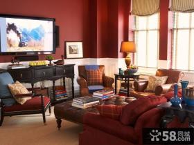 欧式风格客厅电视墙颜色效果图