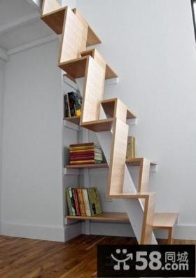 创意开放式室内阁楼楼梯效果图