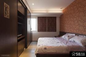 中式风格卧室组合衣柜装修效果图