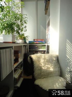 封闭式阳台书房装修效果图片