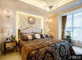 欧式高档装修样板间卧室图片