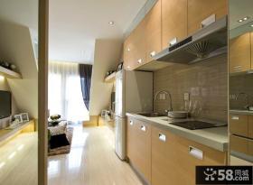 现代风格小复式开放式厨房装修效果图