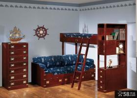 美式风格书房儿童房组合家具图片