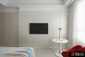 简单设计卧室电视背景墙效果图
