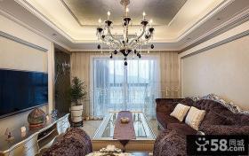 欧式古典华丽客厅软装