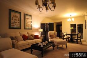 欧式现代客厅装饰画效果图