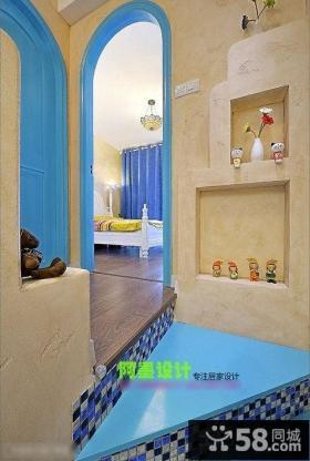 地中海风格别墅楼梯色彩设计