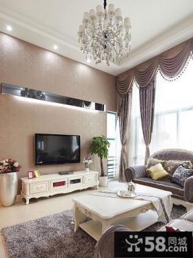 优质简欧客厅电视背景墙图片