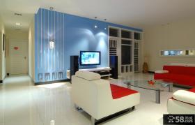 家装婚房客厅电视背景墙装修效果图