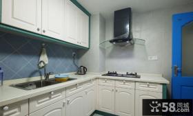 小厨房欧式实木橱柜效果图大全