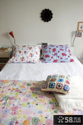 北欧风格二居卧室装修效果图片