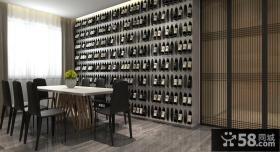 极简设计别墅室内餐厅装饰效果图