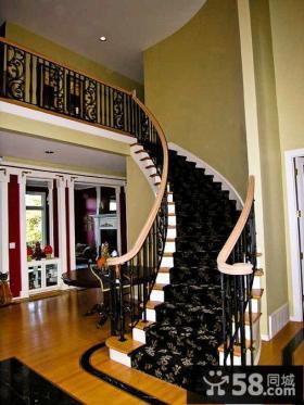 铁艺楼梯扶手装饰图片