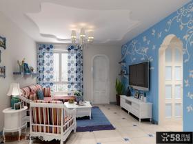 地中海客厅电视背景墙装修效果图欣赏