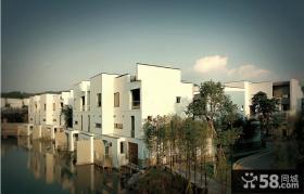 现代中式别墅外观实景图