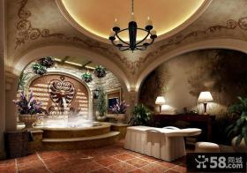 托斯卡纳风格别墅卫生间装修效果图大全2014图片