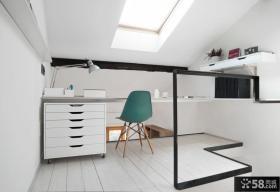 时尚简约风格复式家庭办公室