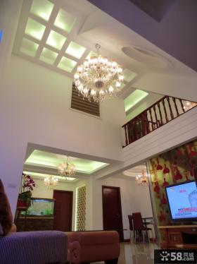 复式楼装修客厅吊顶效果图