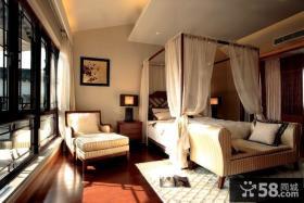 中式古典唯美的卧室装修效果图大全2012图片
