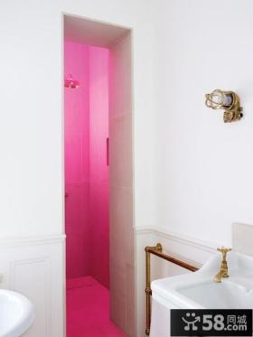 现代复式楼浪漫婚房、卫生间装修效果图