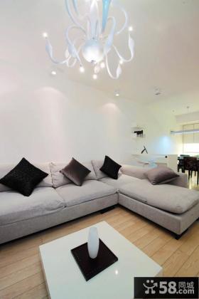 80平米现代简约风格二居室设计