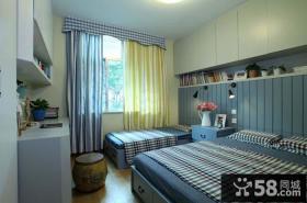 家居风格两床卧室装修图片欣赏