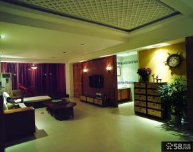 东南亚风格电视背景墙装饰效果图