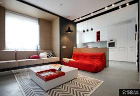 时尚简约风格二居室设计图片