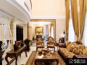 美欧风格豪华别墅休闲区设计图片