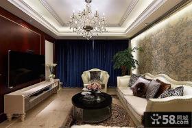 时尚欧式客厅电视背景墙家居