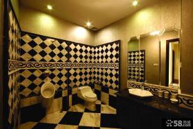 卫生间黑白瓷砖装修效果图