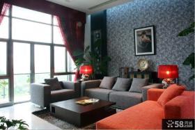 现代风格私人别墅小客厅设计效果图