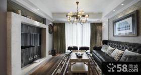现代风格装饰客厅电视背景墙效果图