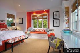 欧式卧室飘窗装修设计图