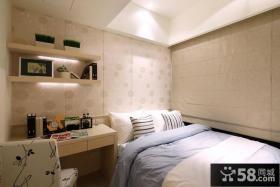 现代简约风格卧室壁纸背景墙设计图片欣赏