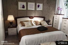 主卧室床头背景墙装修效果图图片
