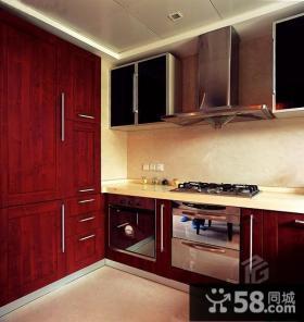 中式简约风格厨房整体橱柜装修图片