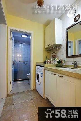 美式古典风格卫生间装修效果图2014图片