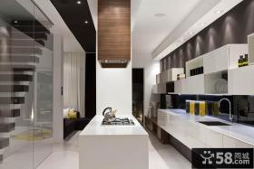 简约现代复式厨房家居装饰效果图