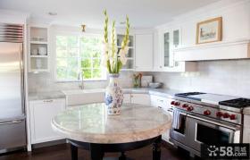 欧式风格厨房吧台大理石台面图片