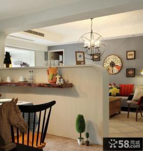 时尚家居客厅餐厅隔断设计