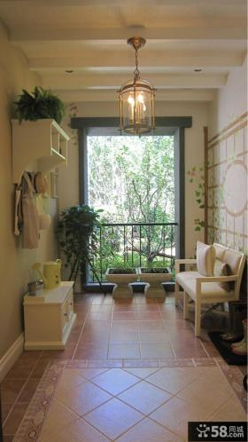 法式田园四室两厅阳台装修效果图欣赏