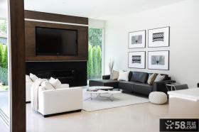 2013简约风格客厅电视背景墙效果图