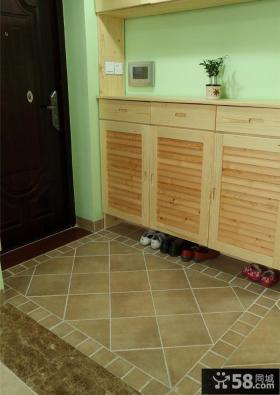 玄关实木鞋柜装修效果图片