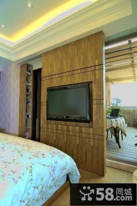 美式乡村卧室电视背景墙图片